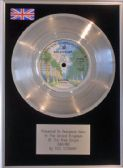 "ROD STEWART -  7"" Platinum Disc - SAILING"